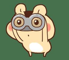 animation Idle geek hamster sticker #13015915