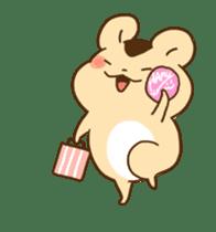 animation Idle geek hamster sticker #13015920