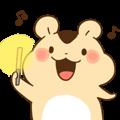 animation Idle geek hamster