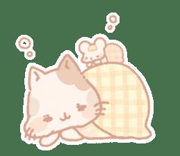 Calico cat Shiratama chan sticker #13029902
