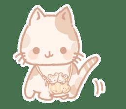 Calico cat Shiratama chan sticker #13029905
