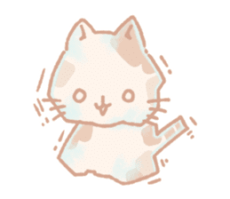 Calico cat Shiratama chan sticker #13029912