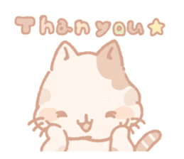 Calico cat Shiratama chan sticker #13029914