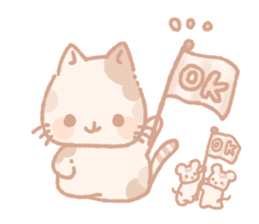Calico cat Shiratama chan sticker #13029919