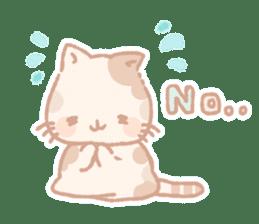Calico cat Shiratama chan sticker #13029920