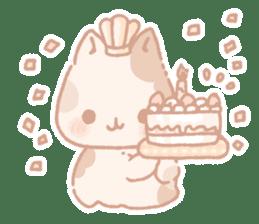 Calico cat Shiratama chan sticker #13029925