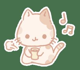 Calico cat Shiratama chan sticker #13029930