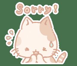 Calico cat Shiratama chan sticker #13029935