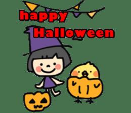 """natu""&""piyo"" Halloween version sticker #13048286"