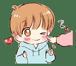 Sticker of a boy and a girl(Boys side) sticker #13055251