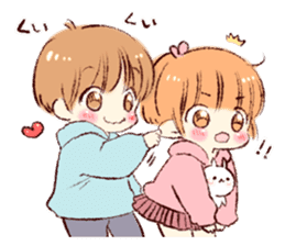 Sticker of a boy and a girl(Boys side) sticker #13055271
