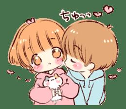 Sticker of a boy and a girl(Boys side) sticker #13055273