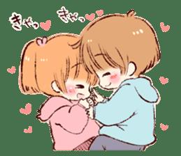 Sticker of a boy and a girl(Boys side) sticker #13055276