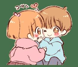 Sticker of a boy and a girl(Boys side) sticker #13055277