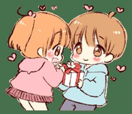 Sticker of a boy and a girl(Boys side) sticker #13055279