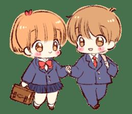 Sticker of a boy and a girl(Boys side) sticker #13055281