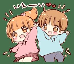 Sticker of a boy and a girl(Boys side) sticker #13055283