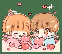 Sticker of a boy and a girl(Boys side) sticker #13055285
