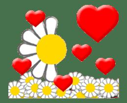 Animated flowers sticker #13060206