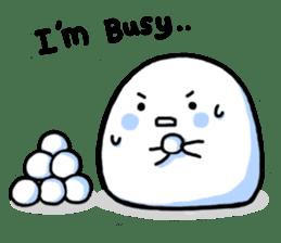 Just a Snowball sticker #13068007