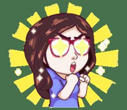 Sunny Shy Girl sticker #13073040