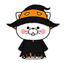 Halloween party in bear's house. sticker #13075628