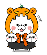 Halloween party in bear's house. sticker #13075634