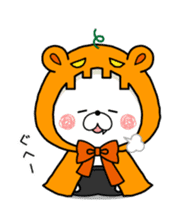 Halloween party in bear's house. sticker #13075640