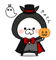 Halloween party in bear's house. sticker #13075643