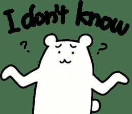 Shiro-san of Bear English version sticker #13076247