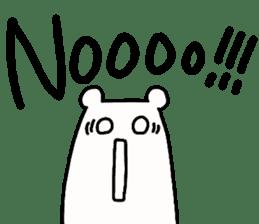 Shiro-san of Bear English version sticker #13076250