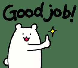 Shiro-san of Bear English version sticker #13076253