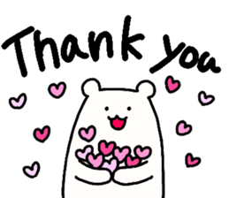 Shiro-san of Bear English version sticker #13076254