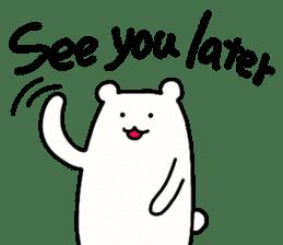 Shiro-san of Bear English version sticker #13076258