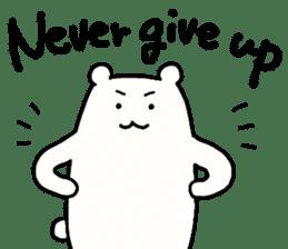 Shiro-san of Bear English version sticker #13076260