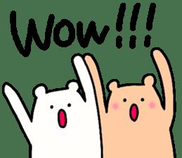 Shiro-san of Bear English version sticker #13076261