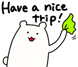Shiro-san of Bear English version sticker #13076262