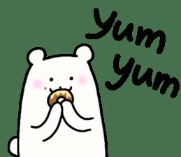 Shiro-san of Bear English version sticker #13076267