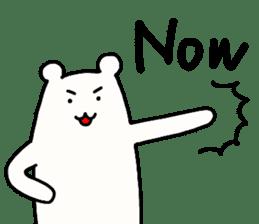 Shiro-san of Bear English version sticker #13076268