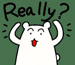 Shiro-san of Bear English version sticker #13076271