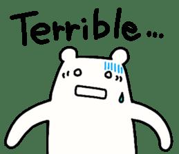 Shiro-san of Bear English version sticker #13076273