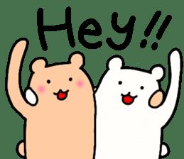 Shiro-san of Bear English version sticker #13076278