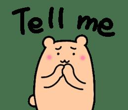 Shiro-san of Bear English version sticker #13076282
