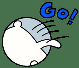 Shiro-san of Bear English version sticker #13076283