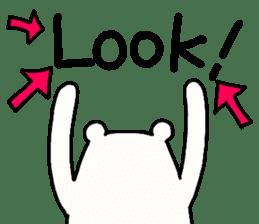 Shiro-san of Bear English version sticker #13076284