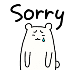 Shiro-san of Bear English version sticker #13076285
