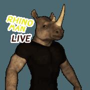 สติ๊กเกอร์ไลน์ Rhino Man Live II