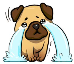 Pugi Pug sticker #13080044
