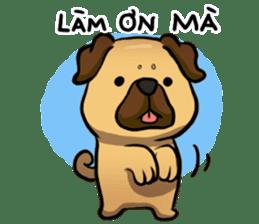 Pugi Pug sticker #13080051