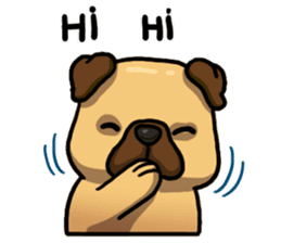 Pugi Pug sticker #13080065